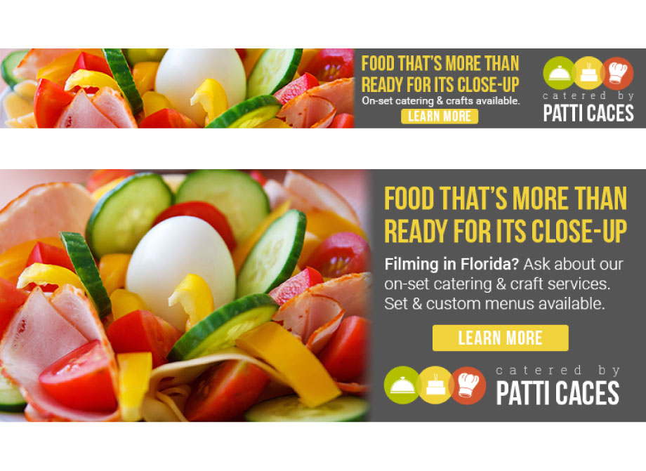 Catered by Patti Caces: Sample banner ad designs