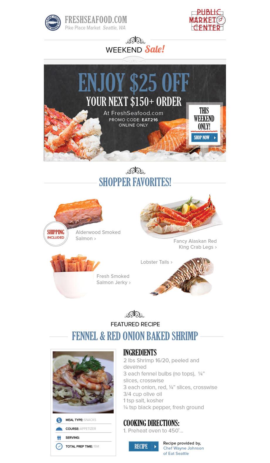 Pure food fish market email design vicki grunewald for Pure food fish market