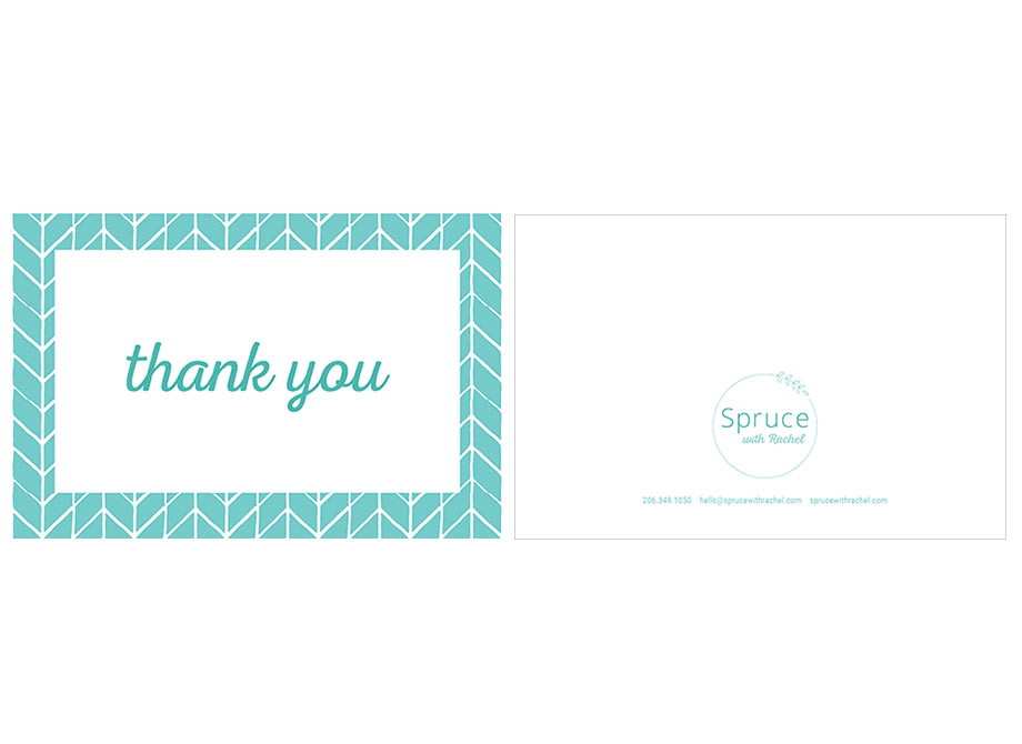 Spruce with Rachel: Thank You card